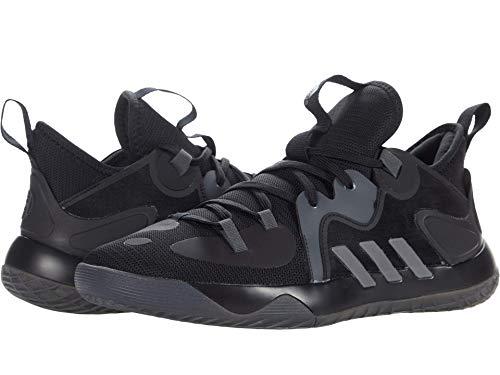 adidas Unisex Harden Stepback 2.0 Basketball Shoe, Black/Iron Metallic/Grey, 12 US Men