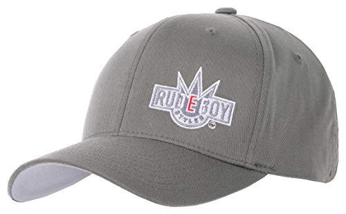 2Stoned Flexfit Basecap in Grau mit Stick Rudeboy Kindergröße Youth (53cm - 55cm), Cap für Jungen und Mädchen