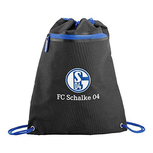 FC Schalke 04 Gymbag Gymsack Turnbeutel (one Size, schwarz)