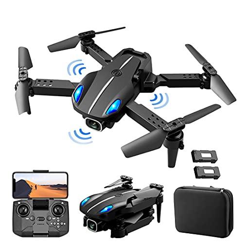 XIAOKEKE Mini Drone Drone con Telecamera 4K Flusso Doppia Fotocamera Altitudine Hold Gesto Foto Video Filp 3D Traccia Volo RC Quadcopter Custodia 2 Batterie,Nero