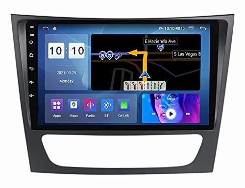 GPS Android 10.0 Car Stereo Unidad de Cabeza de Doble DIN para Mercedes-Benz E Class W211 2005-2009 Navegación GPS Reproductor Multimedia de 9 Pulgadas Radio Video Receptor Rastreador 4G WiFi DS