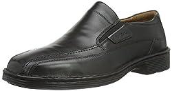 Josef Seibel Herren Slipper Bradfjord 07, Weite K (Extra weit), lose Einlage, College, Schuhe, Loafer, Businessschuhe, Anzugschuhe, schwarz, 46 EU / 11 UK
