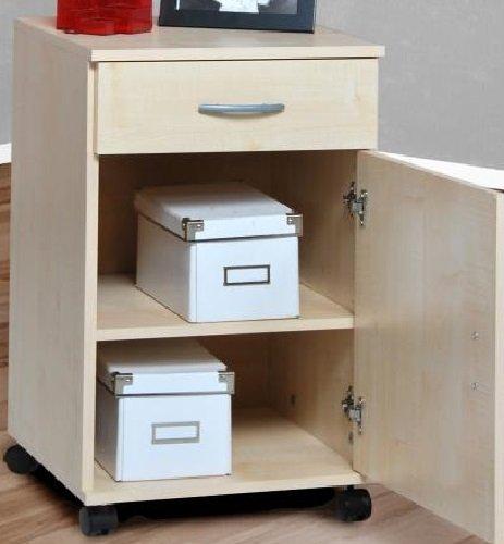 Rollcontainer Nachtschrank Bürocontainer Schubcontainer ahorn - (2156)