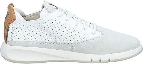 Geox AERANTIS U927FA Hombre Zapatillas,mínimo,varón Zapatos Deportivos,Zapato con Cordones,Transpirable,Calzado,Zapatillas,Sneaker,Blanco,45 EU
