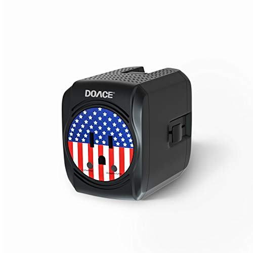 2020 Upgrade 2000W Travel Voltage Converter Adapter Combo Step Down 220V to 110V for Hair Dryer Straightener Curling Iron Laptop Cell Phone 8A Dual USB Power Converters Wall Charge for 200 Countries