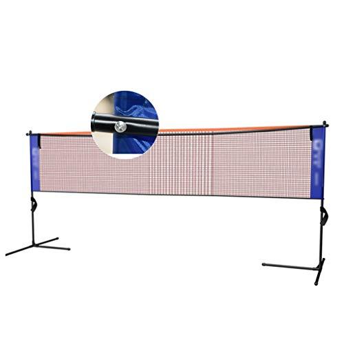 Netze & Garnituren Badminton Badmintonnetz einfaches Klappgestell tragbares Heimsport- und Fitnessgerät Tennisregal Platznetz Blockiergestell (Color : Black, Size : 427 * 155cm)