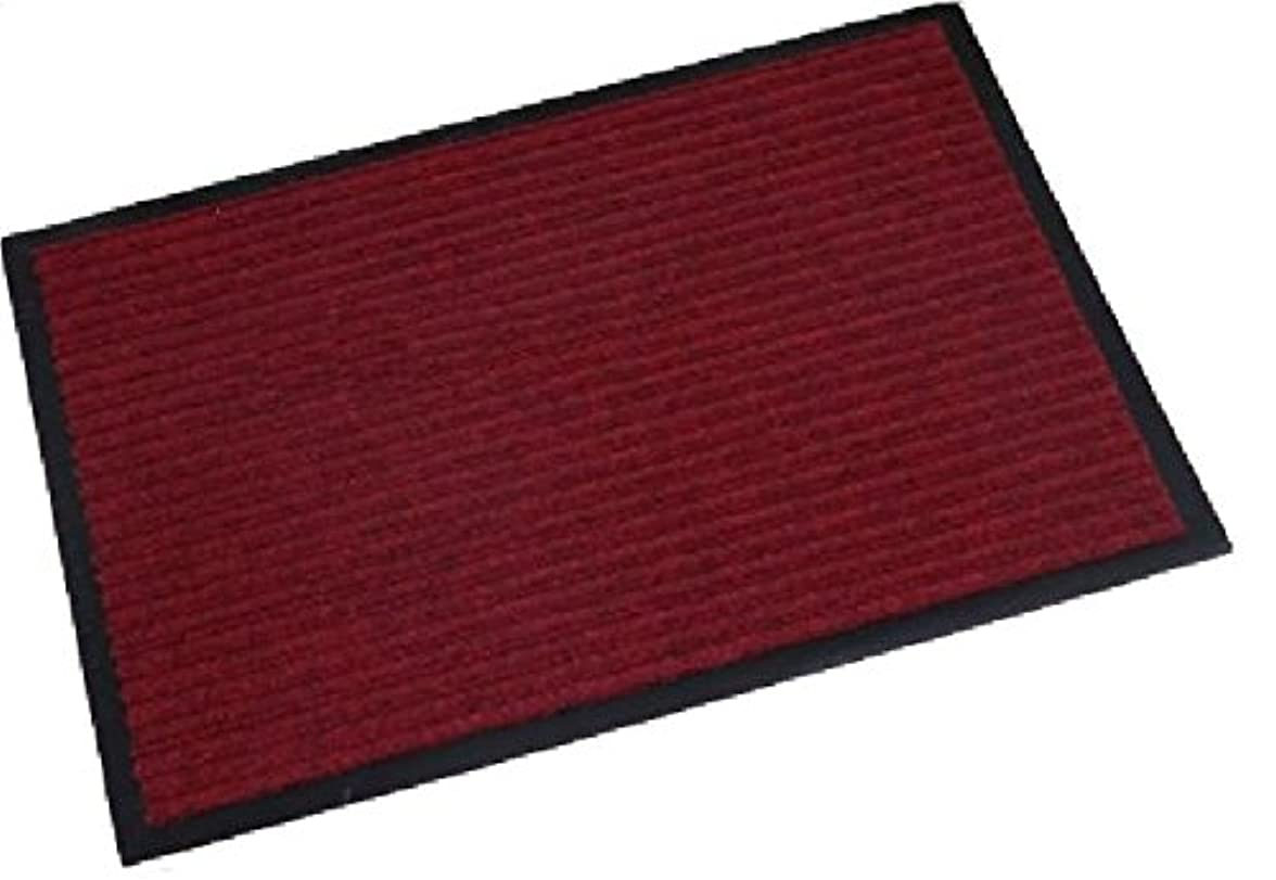 リッチ血まみれやりがいのあるエアル工業 玄関マット 室内 屋外 兼用 業務用 インドアマット (60×90, レッド)