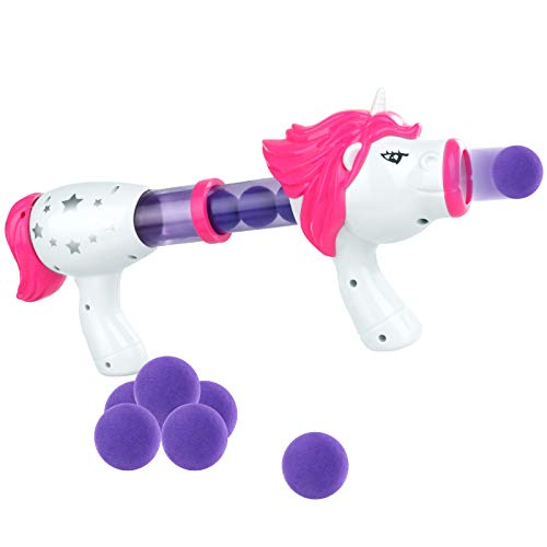 Air Powered Shooter Power Popper Gun with Lighting and Roaring Fire Blaster for Kids Role Playing...