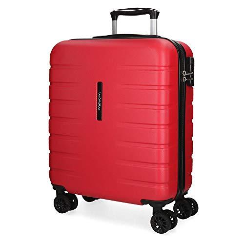 Movom Turbo Maleta de cabina Rojo 40x55x20 cms Rígida ABS Cierre combinación 37L 2,7Kgs 4 Ruedas dobles Equipaje de Mano