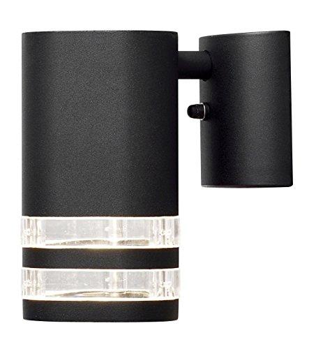 Gnosjö Konstsmide Modena wandlamp buitenlamp, aluminium, GU10, zwart, 9 x 14,5 x 15,5 cm