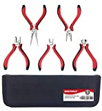 Get 6% discount by applying coupon for NORTOOLS 5 PCS Combination Mini Pliers Set with Dual Color Grip Cutting Tools Set for Jewelry Arts Mechanical Work Small Electronics Repair. Save $1.00.