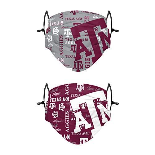 FOCO Unisex-Erwachsene NCAA College Team Logo Adjustable Color Rush Cover Gesichtsmaske, 2 Stück, Adult