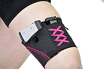 DMAIP Thigh Tactical Sexy Woman Garter Case Black Holsters for Weapons PT-22 22 Caliber TCP 380 Revolver Bag