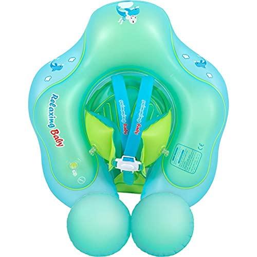 Yoohh Anillo de natación inflable para niños, doble bolsa de aire, para piscina, cruce, círculo de PVC, entrenamiento infantil para niños de 6 a 36 meses