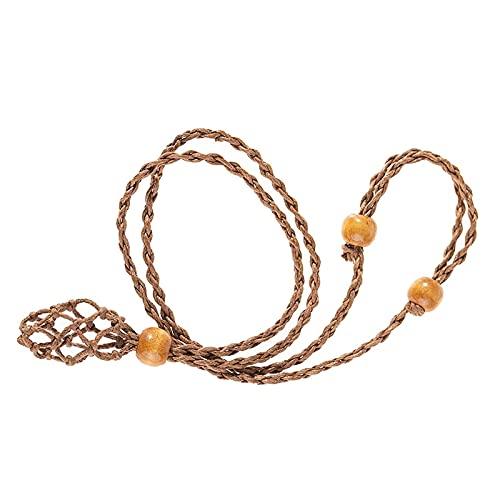 ZXZCHGN 2PCS Soporte de Piedra vacío, cordón Collar para Cristales, cordón Collar, Colgantes Cuerda Collar, Longitud Ajustable Fabricación de Accesorios, Cuerda de Collar de Cuarzo (Color : Negro)