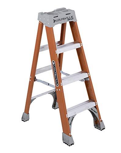 Louisville Ladder FS1504 LADDER STEP FBRGLS TYPE1A 4FT, 4 Feet, Orange