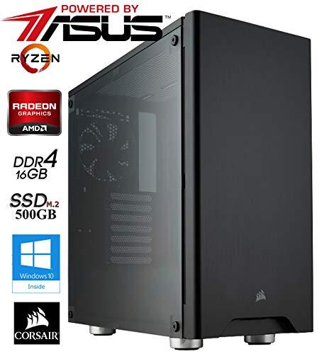 Advanced Gaming / Multimedia COMPUTER | Octa-Core! AMD Ryzen 7 3800X 8x3.9GHz | 16384MB DDR4 | 500GB M2 SSD | 8GB Radeon RX 5700 XT HDMI/DVI mit DirectX12 Technology | USBC | Gaming | W10Home powered by ASUS