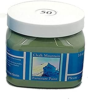 Chalk Mountain Brushes Quality Chalk Furniture Paint. Zero VOC and Low Odor. 51 Beachy and Earthy Colors to Select from. Available in 3 Sizes. 16oz #50 Patina Green