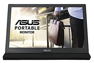 ASUS MB169C+ 15.6 Inch USB Type-C Portable Monitor, FHD (1920 x 1080), IPS, Flicker Free, Low Blue Light, TUV Certified