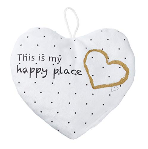 Kirschkernkissen Stern Herz Kissen weiß Wärmekissen inkl. Kirschkern Füllung (Herz)