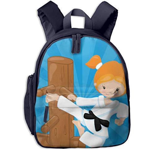 ADGBag Mochila para niños Karate Kids (2) Kids School Backpack School Bookbag Kid Toddler Backpack Backpack For 2-9 Year Old Girl Boy