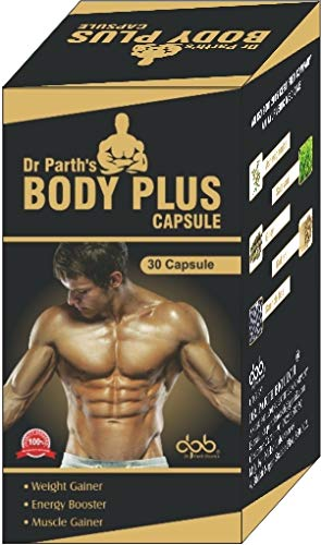 DR. PARTH BIOTECH Muscle Weight Gainer, Energy Booster Body Plus Capsule -30