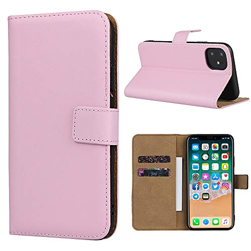 Smart Fit Sport Étui en Cuir pour iPhone - Étui Portefeuille en Cuir SFS pour iPhone X/XS 4/4S 5/5S 5C 6/6s 6 Plus 7/8 7 Plus/8 Plus 8 Plus, Cuir, Rose, pour iPhone 11