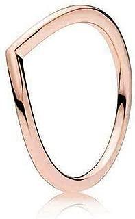 Pandora Women's Wishbone Rose Ring, 7.5-8 US - 186314-57
