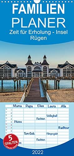 Zeit für Erholung - Insel Rügen/Geburtstagskalender - Familienplaner hoch (Wandkalender 2022, 21 cm x 45 cm, hoch)