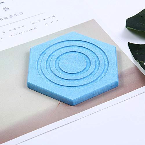 Posavasos absorbentes de diatomita, con velocidad de deslizamiento y protección del medio ambiente, azul – tercera ronda de seis fiestas