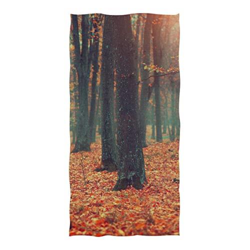 DUKAI Pool- und Strandtücher, Herbst-Herbst-Szene Wunderschöner Herbstpark Extra große Größe (74 × 37 Zoll) Super saugfähiges, schnell trocknendes, kompaktes, kühles Reise-Pool-Handtuch