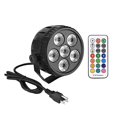 Podiumverlichting, 6 LED's, AC110-240 V, 50 W, Moving-Head-LED-lampen, RGB-lichteffect, met afstandsbediening voor partydisco, DJ, Club, Show, bar, bruiloft, Halloween, Kerstmis