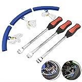 3 Palanca de Neumático Tool Spoon + 3 Kit de Herramientas Borde Protector de Rueda Extracción para Cambio Llanta de Bicicleta para Motocicleta Bicicleta