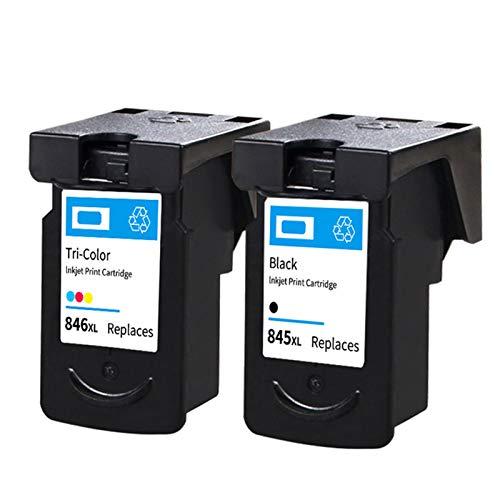 Cartuchos de tinta, PG845 negro CL846 cartucho de color de repuesto para Canon MG2580 2400 2980 IP2880 de alta capacidad cartuchos de tinta negro y color