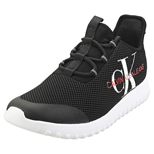 Calvin Klein REILAND Black S0707 Zapatillas para Hombre, 46