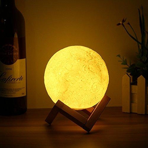 ERCZYO 13cm magischer Hahn-Sensor-Mond-Tabellen-Lampe USB, das wiederaufladbare Luna LED Nachtlicht-Geschenk auflädt ERCZYO