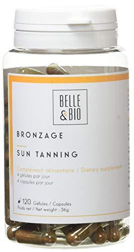 Belle&Bio Bronzage 120 Gélules Solaire Bixa Carotte Sélénium Fabriqué en France