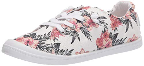 Roxy Damen Bayshore Slip on Shoe Sneaker Turnschuh, White Geo 20, 35.5 EU