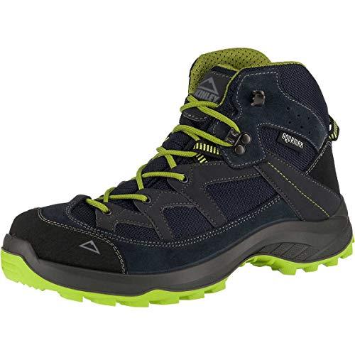 McKINLEY Herren Discover Mid AQX Trekking- & Wanderstiefel, Blau (Navy Dark/Green Lime 905), 43 EU
