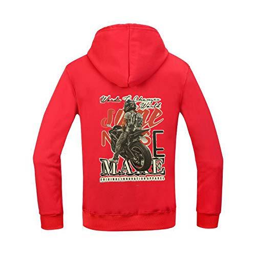 HOSD Sudadera con Capucha otoño / Invierno Suelta para Hombre Pullover Fitness Sweater Men