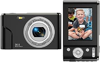 Digital Camera FHD 1080P Mini Video Camera 36MP Vlog Camera for YouTube 2.4 Inch IPS LCD Display Compact Pocket Camera with 16X Digital Zoom Anti-Shake Burst Shoot for Kids Students Teenager - Black