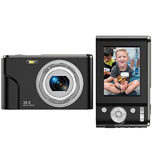 Digital Camera FHD 1080P Mini Video Camera 36MP Vlog Camera for...