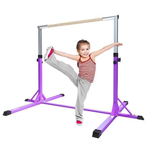 FBSPORT Gymnastics Reck Gymnastics Garden Bar für Kinder Kinder Home Gym Ausrüstung High Rod Gymnastics Adjustable Horizontal (Purple)