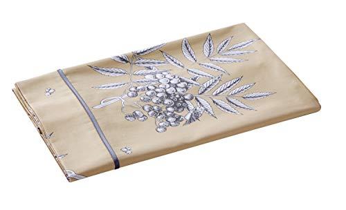Blanc des Vosges Drap Hiboux galet 240 x 300 cm - Satin 100% coton