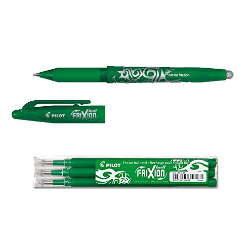 Pilot Pen 1 Frixion Ball grün + 3er-Set Mine Office Set