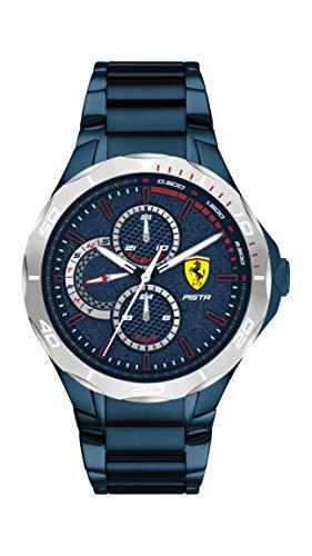 Scuderia Ferrari El | Pista Masculina | Pulsera de Acero Azu