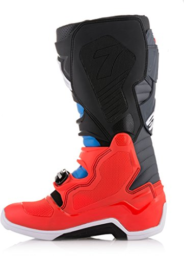 Alpinestars Tech 7 Boots – Red/Cyan/Gray/Black – 11