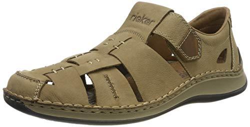 Rieker Herren 05285-20 Geschlossene Sandalen, Beige (Camel/Mogano 20), 44 EU