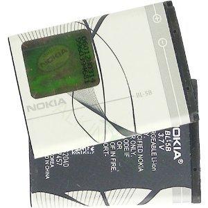 Nokia BL-5B - Batteria agli ioni di litio, 820 mAh, per Nokia 6124 Classic