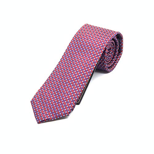 Corbata roja - Corbatas de hombre color vino 100% seda - Corbatas rojas hombre fabricacion artesanal 150 *7 cm